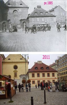 Praha v proměnách času VI. Prague Photos, Houses In France, Czech Republic, Continents, Time Travel, Old Photos, Most Beautiful Pictures, Europe, City