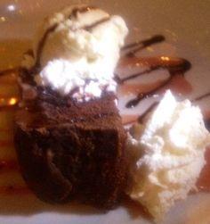 "From 370 Common (Laguna Beach), Chef Ryan Adam's classic ""Grandma B's Chocolate Cake accompanied with rich vanilla bean ice cream and love."" He uses his grandmother's recipe for ""broiler cake."" A dream come true."