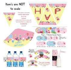 Peppa Pig Children Girls Birthday Party Themed Decoration Pack Pink