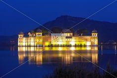 The palace Jal Mahal at night. Veer.com