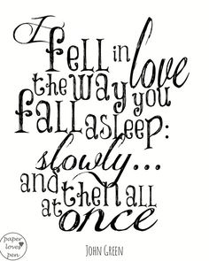 John Green The Fault in our Stars Quote 8X10 by paperlovespen