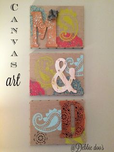 How to make your own canvas art - Debbiedoos
