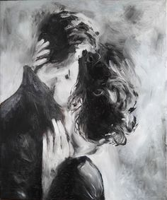 Kiss, oil painting on canvas, lovers, love, two - to buy in the online store at the Fair of the Masters with delivery # kiss # tenderness two # # # love art # kartinamaslom # artist # # canvas picture Kiss Painting, Oil Painting On Canvas, Artist Canvas, Art Romantique, Art Sketches, Art Drawings, Art Amour, Romance Art, Couple Drawings