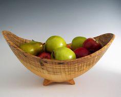 Wood turned serving Bowl Multi wood Bowl 32 cm