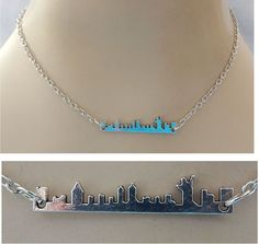 Silver New York Skyline Strand Necklace Jewelry Handmade NEW Chain Accessories #handmade #Pendant