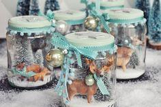 Weihnachtliche DIY Deko & Geschenkidee - Winterwunderland im Glas - ein selbstgemachtes Schneeglas zum Verschenken und selbst behalten