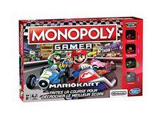 Monopoly – Gamer Mario Kart, E1870: Parcourez le plateau Monopoly gamer Mario kart pour gagner un maximum de pièces et en faire perdre aux…