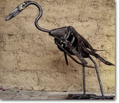 . . . . . How to Recycle: Heavy Metal Waste to Art Sculpture