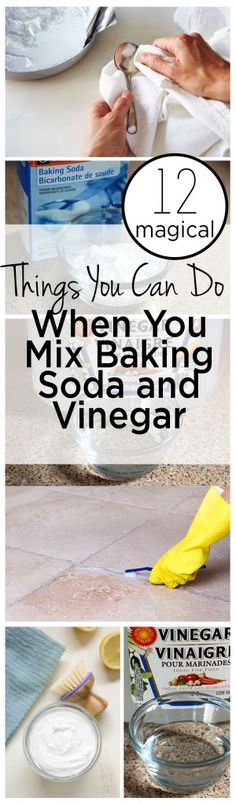 12 Magical Things You Can do When You Mix Baking Soda and Vinegar - Cleaning Hacks Baking Soda Cleaning, Baking Soda Uses, Household Cleaning Tips, House Cleaning Tips, Green Cleaning, Spring Cleaning, Cleaning Hacks, Cleaning Rust, Kitchen Cleaning Tips