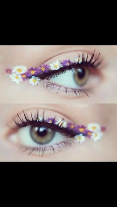 Flower liner... Myself, I usually paint the flowers bigger and wilder, but this is a pretty way to add petals to your look.
