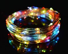 OBest Color Changing String Lights 33Ft 10M 100 LEDs RGB Flashing Copper Wire Lights Starry LED Rope Lights For Seasonal Decorative Christmas Holiday Wedding with UL Listed Power Adapter RGB *** Continue to the product at the image link.