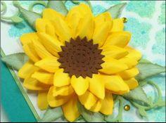 closeup of Create-a-Flower: Sunflower Paper Art, Paper Crafts, Sunflower Cards, Flower Ideas, Card Making, Thankful, Create, Floral, Flowers