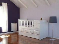 """Muebles Infantiles - Cuna Funcional C/ Cajonera Bajo Cuna y Carro Cama - """" Modelo Liz """" en ViviBarbera"""