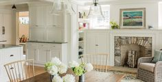 Inspiration for the blank wall in the kitchen - the shallow cabinets