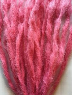 Cupcake Pink Knotty Dreads 20 SE Single Ended Pastel Bubblegum