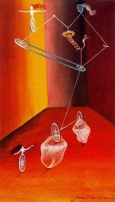 Transmisión ciclista con cristales. 1943. Obra de Remedios Varo