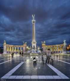 Heroes's Square and Millennium Monument in Budapest, Hungary