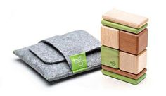 These would be great to have in my counseling office. Tegu 8 piece Wooden Block Set with Pouch-Mahogany by Tegu - $24.95