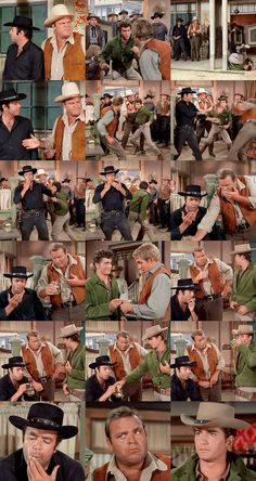 Little Joe makes a bet that he can beat another man in a fight. Adam and Hoss see Joe being hurled out of the saloon and presume that he is in trouble. They dash to his rescue, but instead of gratitude they earn themselves a sock in the jaw. From The Quest (Bonanza)