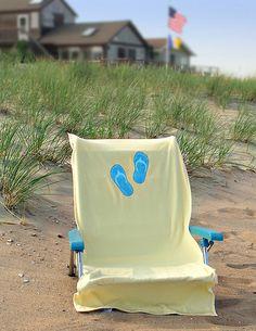 Beach Chair Towel Beach Towel with Flip Flops Design by MyFavorites, via Flickr