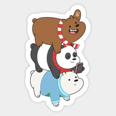 Meme Stickers, Tumblr Stickers, Printable Stickers, Tumblr Pattern, Kitten Drawing, We Bare Bears Wallpapers, We Bear, Bear Wallpaper, Christmas Stickers