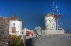 Windmills at Oia , Santorini Oia Santorini, Windmills, Mount Rushmore, Fair Grounds, Mountains, Nature, Naturaleza, Wind Mills, Windmill