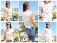 """Shirt, Tunika """"BELLA"""", Gr. 158 – Damengr. 46 – inkl. Ankervorlage"""