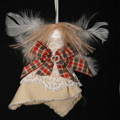 Shabby Chic Christmas Fairy - Tartan and Lace, Unique Christmas Gifts, Quality Greeting Cards, Luxury Christmas Decorations,Trendy Hand Knitted Accessories, Luxury British Made Shabby Chic Christmas, Christmas Fairy, Unique Christmas Gifts, Christmas Decorations, Christmas Ornaments, Holiday Decor, Unique Cards, Knitting Accessories, Interesting Stuff