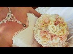▶ DIY Lace/Bling/Brooch Bridal Bouquet, Choker and Headpiece - Lavish Laces DT Call - YouTube