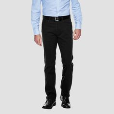Haggar H26 - Men's Slim Fit Bedford Cord Pants Black 36x32
