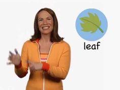 ▶ LEAF in sign language (ASL) - YouTube