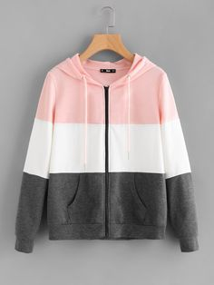Shop Cut And Sew Hoodie Jacket online. SheIn offers Cut And Sew Hoodie Jacket & more to fit your fashionable needs. Leather Hoodie, Leather Jacket, Men's Leather, Brown Leather, Trendy Hoodies, Pink Hoodies, Smart Jackets, Jugend Mode Outfits, Teen Fashion Outfits