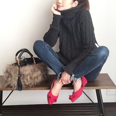 Media?size=l Japan Fashion, Daily Fashion, Everyday Fashion, Love Fashion, Girl Fashion, Womens Fashion, Fashion Design, Outfits Otoño, Basic Outfits