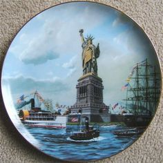 Check out Vintage ARMSTRONG STATUE of LIBERTY THE DEDICATION Plate 1985 GOLD TRIM  http://www.ebay.com/itm/Vintage-ARMSTRONG-STATUE-LIBERTY-DEDICATION-Plate-1985-GOLD-TRIM-/150582985198?roken=cUgayN via @eBay