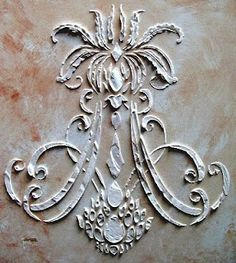 Stencil, Wall Stencil, Raised Plaster Stencil Royal Anne Wall Stencil, Painting Stencil, Wall Decor - Home Page Faux Painting, Stencil Painting, Stenciling Walls, Tole Painting, Painted Furniture, Diy Furniture, Furniture Stencil, Furniture Design, Plaster Walls
