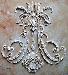 Raised Plaster Stencil