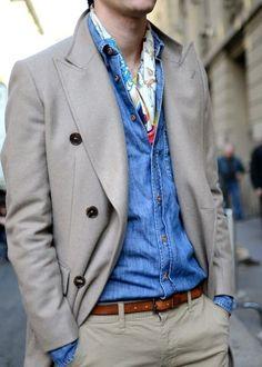 Foulard nella camicia