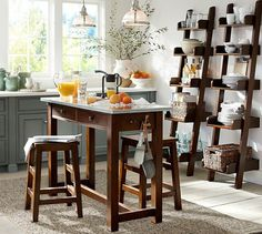 Balboa Counter Height Table amp Stools Pottery Barn