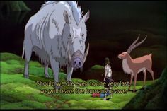 In the movie Princess Mononoke, the guardian spirits of the forest are much bigger compared to their counterparts here. This is most likely to emphasis the power and wisdom these creatures possess.