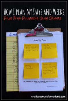 Find out how to step up your own simple clipboard system for keeping your days and weeks on track. (free printable grid)
