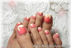 cute toe nail art » Nail Designs & Nail Art Fingernail Polish Designs, Toe Nail Designs, Toe Nail Art, Nail Art Diy, Diy Nails, Cute Toe Nails, Cute Toes, Pretty Toes, Beautiful Toes