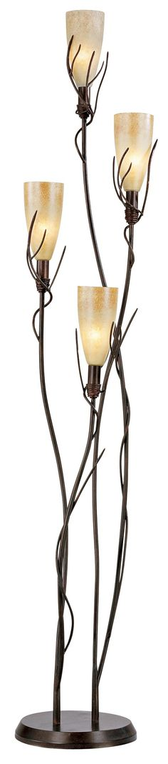 El Dorado 4 Light Torchiere Floor Lamp | LampsPlus.com
