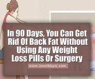 In 90 Days, You Can Get Rid Of Back Fat Without Using Any Weight Loss Pills Or Surgery