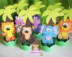 Resultado de imagem para centros de mesa infantiles animales de la selva