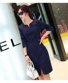 Midi Elegant Evening Korean Dress YRB0707