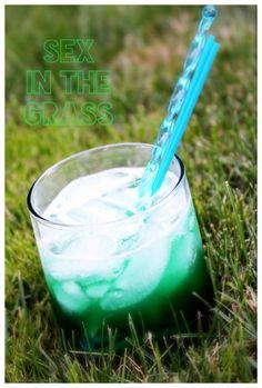 Sex in the Grass (.5oz Midouri  .5oz Southern Comfort  .5oz Blue Curacao  .5oz Peach Schnapps  1oz Vodka  2oz Sprite  2oz Sweet & Sour)