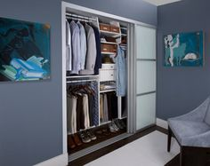 His & Hers Reach-in Closet - contemporary - closet - new york - by transFORM | The Art of Custom Storage