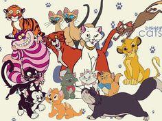 Disney cats - Fan Art