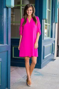Business Class Dress, Pink $43.00