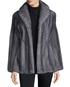 Shawl-Collar+Mink+Jacket,+Light+Gray+by+Gorski+at+Neiman+Marcus.